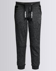 K7Star Wood Trackpants Black