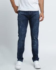 K7Star Rodrigo Washed Denim Jeans Dark Blue