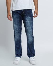 K7Star Connect Mottled Denim Jeans Blue