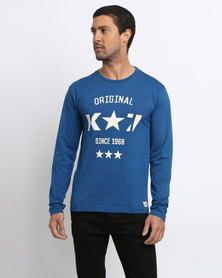 K7Star Logo T-Shirt Navy
