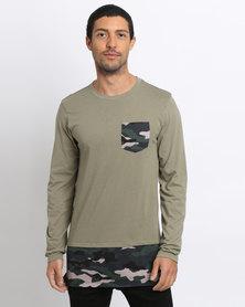 K7Star Camo Block T-Shirt Fatigue Green