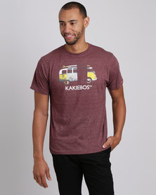 Kakiebos X-Straal Crew Neck T-Shirt Burgundy Melange