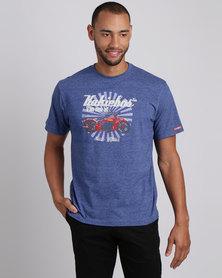 Kakiebos Indian Crew Neck T-Shirt Ink Melange