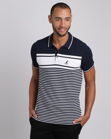 Kangol Crowne Polo T-Shirt Navy