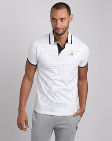 Kangol Zed V2 Polo T-Shirt White