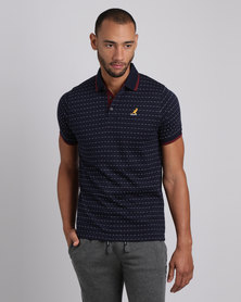 Kangol Zed V2 Polo T-Shirt Navy