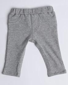 Kapas Skinny Trackpants Grey