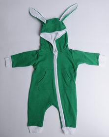 Kapas Tracksuit Bunny Onesie Green