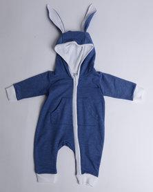 Kapas Tracksuit Bunny Onesie Blue