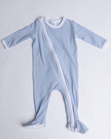 Kapas L/S Full Footed Babygrow Turquoise