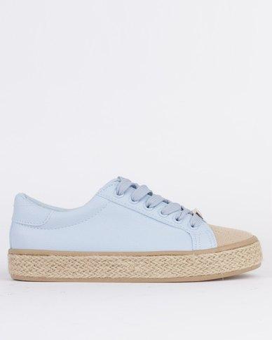 KG Ladies Rope Low Cut Lace Up Sneaker Blue