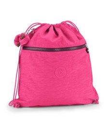 Kipling Supertaboo Drawstring Backpack Pink Berry