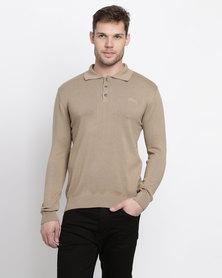 Klevas Classic Collar Knitwear Sand Stone