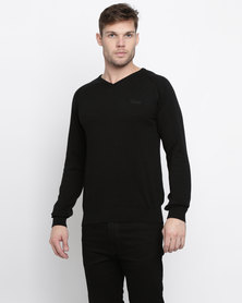 Klevas Classic V Neck Knitwear Black