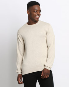 Klevas Classic Crew Neck Knitwear Tan