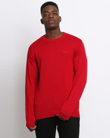 Klevas Classic Crew Neck Knitwear Red