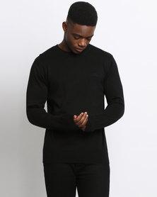 Klevas Classic Crew Neck Knitwear Black