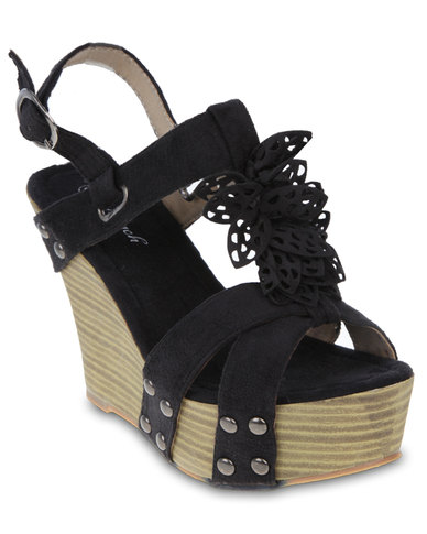 Launch Wedge Sandals Black