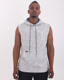 Lee Sleeveless Hooded Sweatshirt Grey