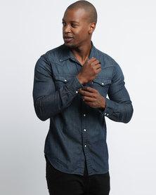 Levi's ® Classic Western Dark Wash Shirt Blue