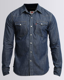 Levi's ® Barstow Shirt Western Red Cast Rinse Blue
