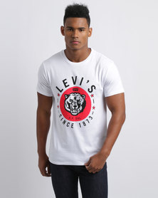 Levi's Graphic Set-In Neck 2 Bi Bear White