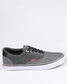 Levi's Rocklin Denim Chambray Low Cut Sneaker Black/Grey