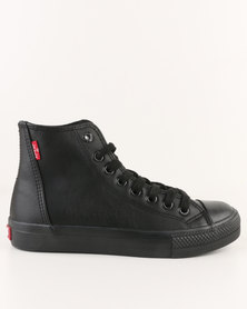 Levi's Trucker Hi Top Sneaker  MM Black Mono