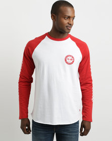 Levi's Long Sleeve Graphic Baseball T-Shirt Red