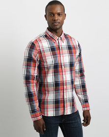 Levi's Long Sleeve Pacific Check Shirt Teal