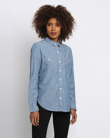 Levi's Good Workwear Boyfriend Surplus Shirt Blue