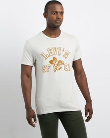 Levi's Graphic Military Athletic Shirt Ecru