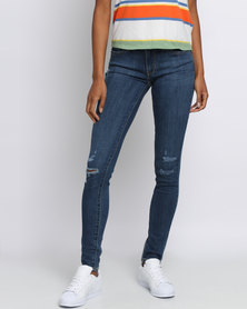 Levi's 711 Skinny Damage Is Done Jeans Blue