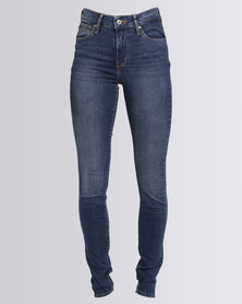 Levi's 721 High Rise Skinny Runoff Jeans Indigo