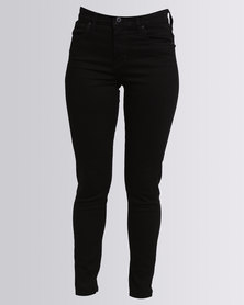 Levi's 721 High Rise Skinny Black Sheep Jeans Black