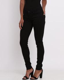 Levi's 711 Skinny Black Sheep Jeans Black