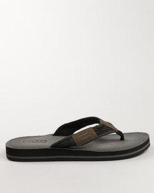 Levi's Kanye Flat Toe Thong Sandal Black