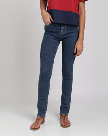 Levi's ® Line 8 High Rise Skinny Fit Jeans Fence Blue