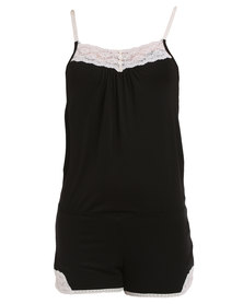 Lila Rose Lacy Onesie Black