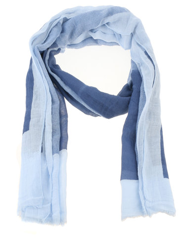 Lily & Rose Multi Print Scarf Blue