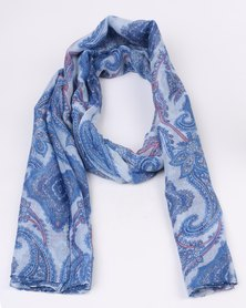 Lily & Rose Printed Scarf Blue