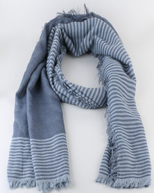 Lily & Rose Stripe Scarf Blue