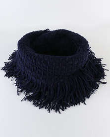 Lily & Rose Plain Winter Scarf Blue