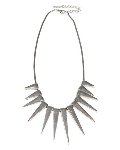 Lily & Rose Fashion Spike Necklace Silver