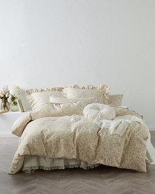 Linen House Damson Duvet Cover Set Taupe