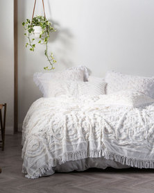 Linen House Somers Bed Cover Set White