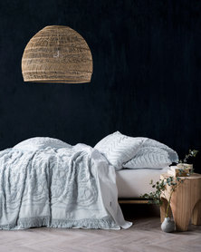 Linen House Somers Bed Cover Set Soft Blue