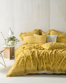 Linen House Somers Bed Cover Set Yellow