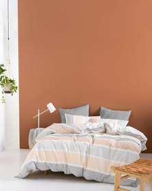 Linen House Asuka Duvet Cover Set Neutral