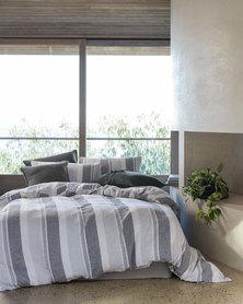 Linen House Calais Duvet Cover Set Grey